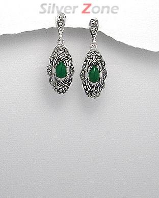 cercei-argint-marcasite-piatra-verde-M_PM