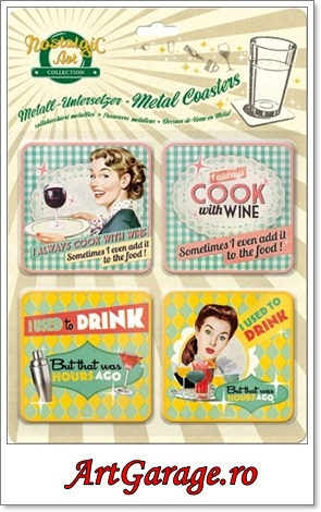 Suport pahare Say it 50's drink and wine-400x500