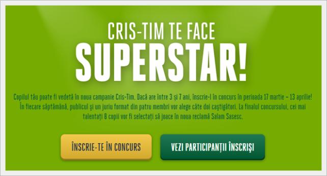 Cris-Tim te face superstar